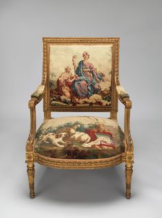 century reproduction Louis XVI Armchair made to suit it's Beauvais upholstery tapestry designed ca. and woven JC French Furniture, Classic Furniture, Furniture Styles, Fine Furniture, Luxury Furniture, Antique Furniture, Furniture Online, Wood Furniture, Furniture Purchase
