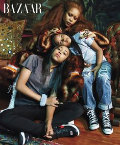 BAZAAR ICONS The First Families of Music From Bruce Springsteen Kanye West to Christina Aguilera Erykah Badu the greats of rock pop and rap come together with their promising offspring and prove that the legacy lives on. Beyonce, Rihanna, Black Love, Black Is Beautiful, Black Art, Beautiful Images, Mariah Carey Kids, Kanye West, Lady Gaga