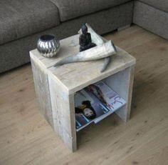 Steigerhout bijzettafel/salontafel