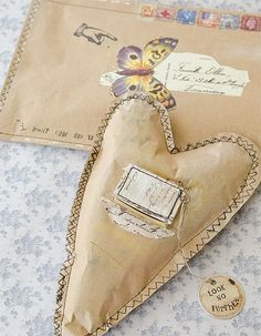 Mixed-media artist Connie Govea Stuart wants to help you rediscover all the romance and wonder of sending handwritten correspondence with these darling brown paper heARTs and matching envelopes.