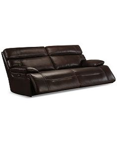 Barington Leather Sofa with 2 Power Recliners, Power Headrests and USB Power Outlet