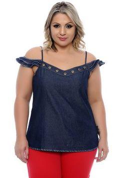 Blusa Ciganinha Plus Size Nathalye