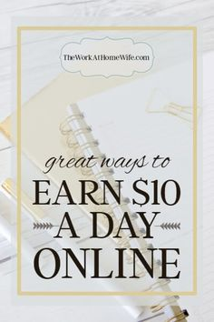 Maybe you aren't looking to get rich online. These ideas will help you make $10 a day or a few hundred bucks each month to help out with the bills.