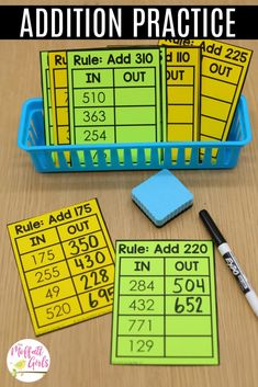 Addition And Subtraction First Grade addition and subtraction – addition and subtraction first grade, addition and subtraction kindergarten, addition and subtraction anchor chart, addition and subtraction rules, addi 3rd Grade Centers, Third Grade Math Games, 3rd Grade Activities, Fourth Grade Math, First Grade Math, Math Centers, Grade 2, Therapy Activities, Subtraction Kindergarten