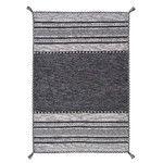 Kelim Hand-Woven Grey Area Rug