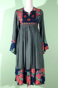 60s vintage folk afghan dress On indiVintage.com