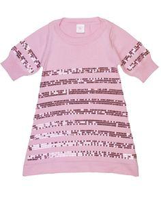 Cute embellishment idea- Pink Sequin Sweater Dress