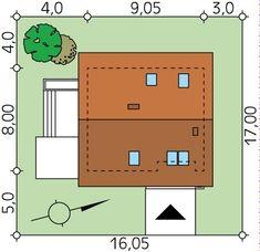 Sytuacja MT Jagoda  CE Traditional House, Floor Plans, How To Plan, Houses, Floor Plan Drawing, House Floor Plans