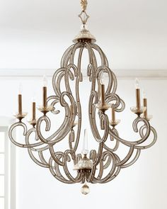 Beaded Elegance 8-Light Chandelier