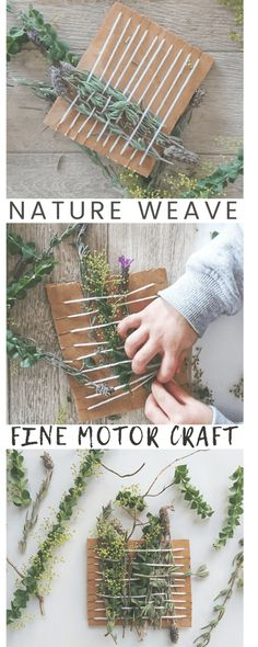 9 Simple Nature Weave for kids Invitation to Create a Simple Nature Weave that's perfect for preschoolers and a great quiet time activity.Invitation to Create a Simple Nature Weave that's perfect for preschoolers and a great quiet time activity. Forest School Activities, Quiet Time Activities, Nature Activities, Summer School Activities, Preschool Art, Preschool Activities, Children Activities, Preschool Garden, Preschool Curriculum