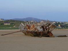 Cara Na Mara (friend Of The Sea) On Magheraclogher Beach, Bunbeg Ireland Phillips Island, Abandoned Ships, Fraser Island, Ghost Ship, Fort William, Paphos, Newfoundland And Labrador, Shipwreck, Tall Ships