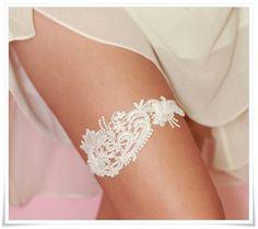 Wedding Garter White Venise Lace $24.25