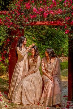 Bridesmaid Expert: Abhinav Mishra's new collection is out! The Bridesmaid Expert: Abhinav Mishra's New Collection Is Out & We Want It ALL! Indian Bridesmaid Dresses, Bridesmaid Outfit, Indian Wedding Outfits, Bridal Poses, Bridal Photoshoot, Wedding Poses, Lehenga Wedding, Desi Wedding, Indian Wedding Photography Poses