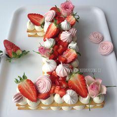 Strudel, Cake Recept, Number Cakes, Brownie Cake, Cupcakes, Pavlova, Dessert Table, Sushi, Panna Cotta