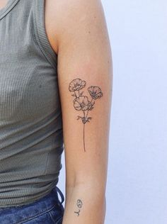 Outstanding cute tattoos are readily available on our web pages. - Outstanding cute tattoos are readily available on our web pages. Take a look and you wont be sorry - Dainty Tattoos, Mini Tattoos, Body Art Tattoos, Small Tattoos, Cool Tattoos, Tatoos, Carnation Flower Tattoo, Poppies Tattoo, Small Poppy Flower Tattoo