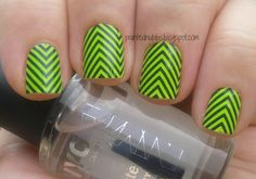 Painted Nubbs: Incoco Real Polish Strips Electric Wave