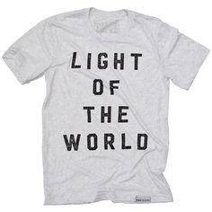 Light of the World White Fleck T-Shirt | walk in love.