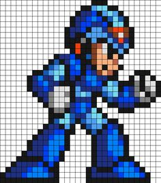 Mega Man X Perler Bead Pattern