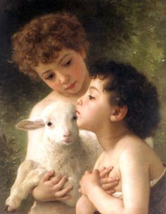 William-Adolphe Bouguereau | William-Adolphe Bouguereau - Children With the Lamb (Detail ...