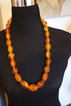 ANTIQUE VINTAGE NATURAL BALTIC AMBER COGNAC OLIVE BEADS  NECKLACE 140 gr CHINISE in Jewelry & Watches, Vintage & Antique Jewelry, Fine, Retro, Vintage 1930s-1980s, Necklaces & Pendants | eBay