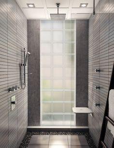 Recessed Rainhead, Tabou Shower Seat. Aquabrass. #ShowerSeat #Rainhead #bathroom #Design #InteriorDesign #Decor #bathroomdesign #aquabrass #Shower