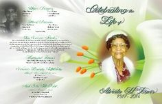 My grandmother's funeral program cover