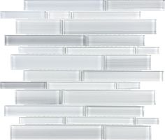 Discount Glass Tile Store - Bliss Fusion Glass - Random Strip - Fusion Ice, $8.89 (http://www.discountglasstilestore.com/bliss-fusion-glass-random-strip-fusion-ice/)