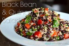Superfood Black Bean Quinoa Salad recipe - Perfect every time! www.elizabethrider.com #healthcoach #glutenfree #eatclean #elizabetheats