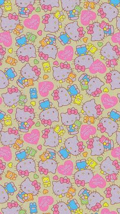 Sanrio Wallpaper, Hippie Wallpaper, Trippy Wallpaper, Hello Kitty Wallpaper, Iphone Background Wallpaper, Retro Wallpaper, Kawaii Wallpaper, Iphone Wallpaper Tumblr Aesthetic, Aesthetic Pastel Wallpaper
