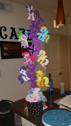 My little pony centerpiece for my lovely niece:
