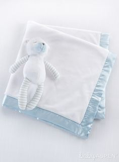 Baby Aspen Beary Sleepy - Plush Plus Stuffed Animal & Blanket Set, Size One Size - Blue Baby Shower Gifts For Boys, Baby Shower Party Favors, Baby Boy Gifts, Baby Shower Parties, Baby Boys, Best Baby Blankets, Plush Baby Blankets, Receiving Blankets, Baby Aspen