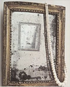 Old Mirrors, Vintage Mirrors, Painted Mirrors, Black Lamps, Black Mirror, Shabby Vintage, Shabby Chic, Chandeliers, Glass Chandelier