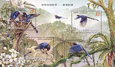 Bird stamps from China (Taiwan). ~ Stamps of the World