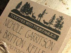 Rustic Wedding Invitation Yosemite Deer  by sweetinvitationco, $100.00