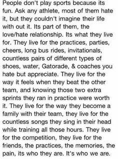 So true i miss playing softball.