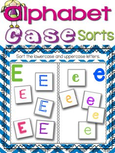Practice sorting letters by uppercase/lowercase with these fun centers and printables! Color provided for centers and black/white included for individual printables. $