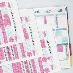 May Vintage Wallpaper Coordinating Planner Sticker Half Kit // Erin Condren Colors