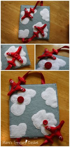 Free Quiet Book Pattern - Felt Airplane Busy Book - Red Arrows: Wonderwoman