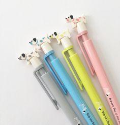 Conjunto de 4 cachorro mecánico lápices de 0,5 mm / Linda lápices mecánicos / / lápices de Kawaii