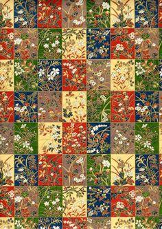 Japanese Yuzen Chiyogami Washi Paper (Floral Design 33) - A4 Sheet