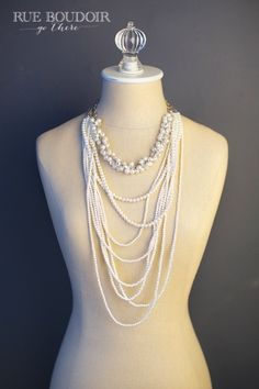 Long layered pearls (accessories for boudoir photo shoot)