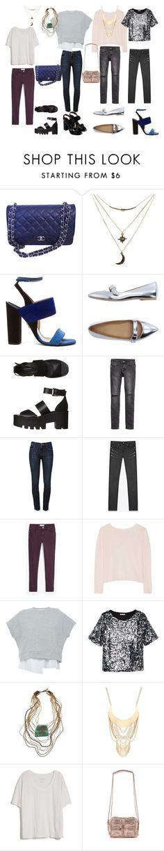 """Даша. Джинсы лето"" by verose-1 on Polyvore featuring мода, Chanel, Charlotte Russe, Paul Andrew, Marc by Marc Jacobs, Windsor Smith, Frame Denim, Yves Saint Laurent, MANGO и Banjo & Matilda"