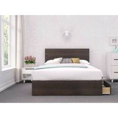 Pristine 3 Piece Full Size Bedroom Set, Ebony & White - Nexera in an Ebony & White finish, the handsome Pristine bedroom collection adds warmth and style to any room. With Nexera furniture you can personalize your room based on your specific