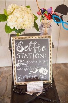 Selfie station photobooth! Wedding Entertainment Ideas - Photo Booth © Krista Lee Photography