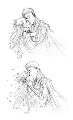 """Real Love #illustration #drawing / Vero Amore #illustrazione #disegno - Art by Arbetta on deviantART, """"Hades y Perséfone"""""""