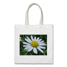 Cotton bag white daisy