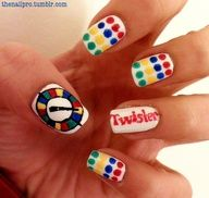 twister nails! love this game funny there are nail designs like it....