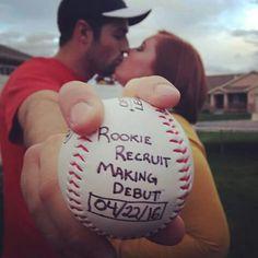 Baseball baby announcement