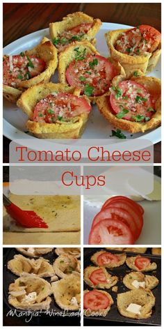 Tomato Cheese Cups, easy to make #appetizer #snack or #sidedish | www.wineladycooks.com