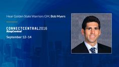 We're pleased to announce Bob Myers, General Manager of the Golden State Warriors, as one of the keynote speakers who will be presenting at ConnectCentral 2016 this September in San Francisco! #UserConference #ConnectCentral16 #Warriors #Keynote #Business #Technology